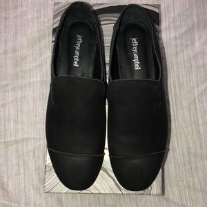 Jeffrey Campbell Bryant Black crinkle shoe